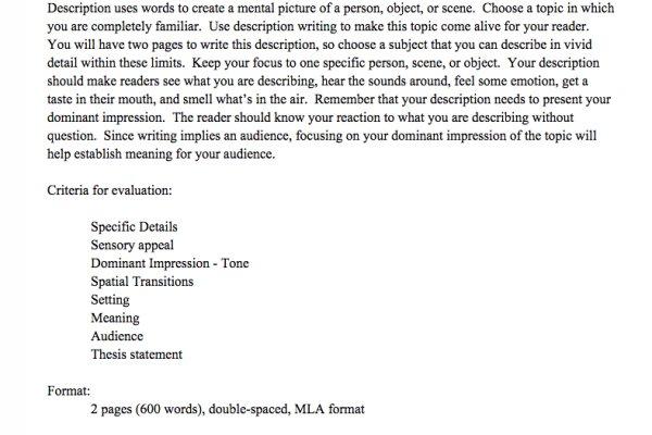 example for narrative essay
