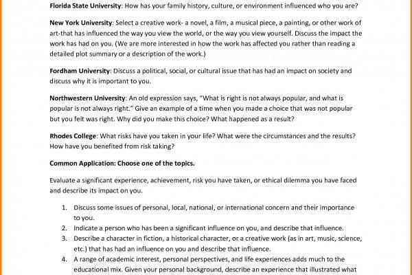 sample college personal essay